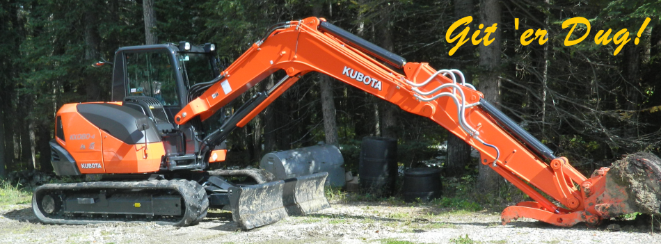 Terry is the owner/operator of three pieces of equipment which include a 580 Case Backhoe, Kubota Excavator, and a Bobcat.