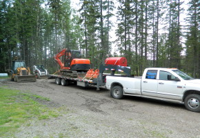 Terry will dig in your water, power, gas, and sewer lines, and has become a one stop shop for acreage or land owners.